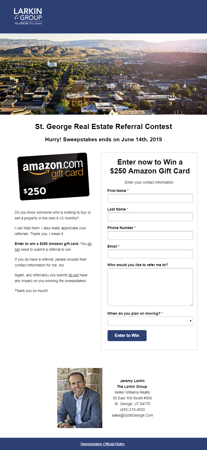 Referral Content Landing Page