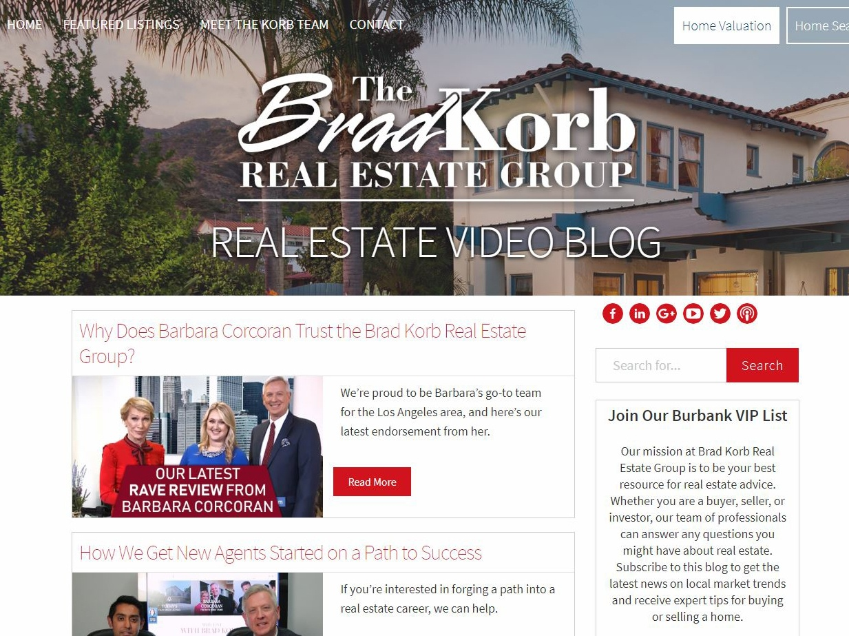 The Brad Korb Real Estate Group Video Blog