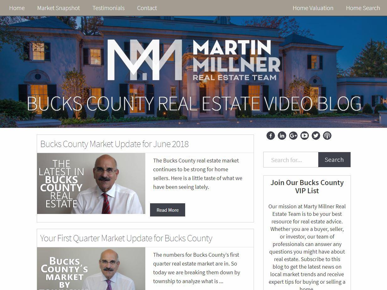 Marty Millner Real Estate Team Video Blog