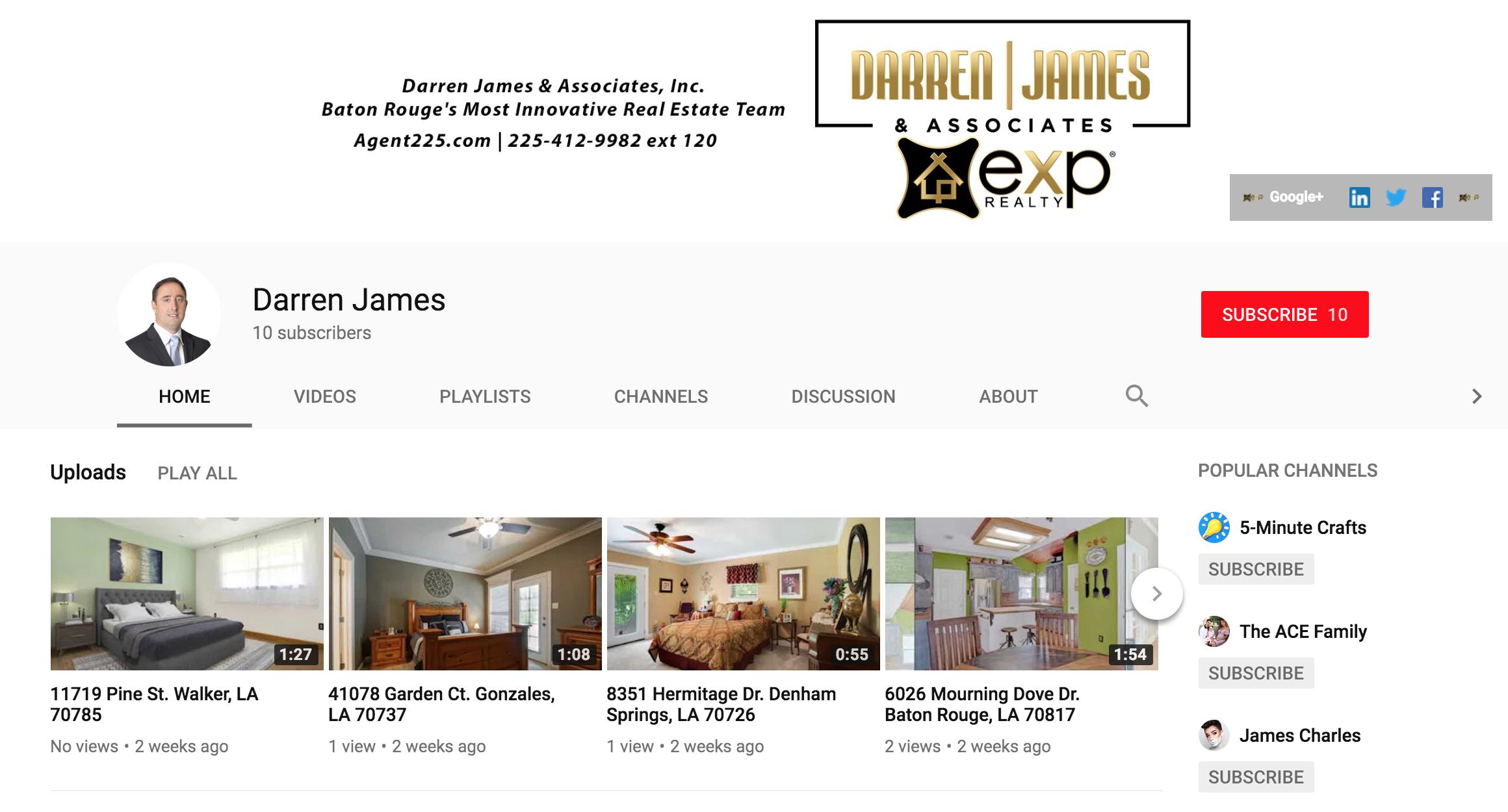 Darren James YouTube