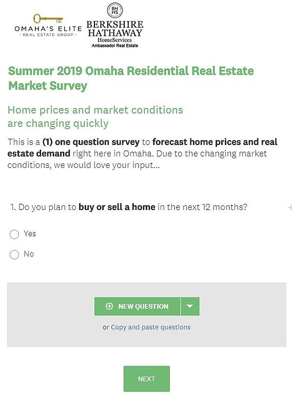 SurveyMonkey Example for Real Estate Agents to Generate Leads From Their Database