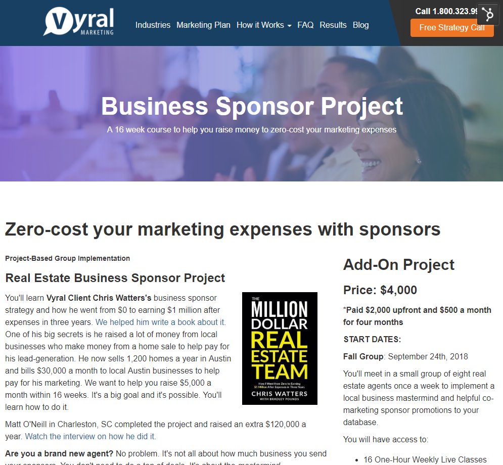 Business Sponsor Project Vyral