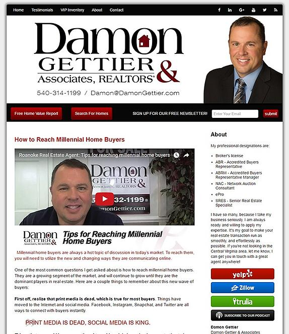 Damon Gettier's Real Estate Video Blog