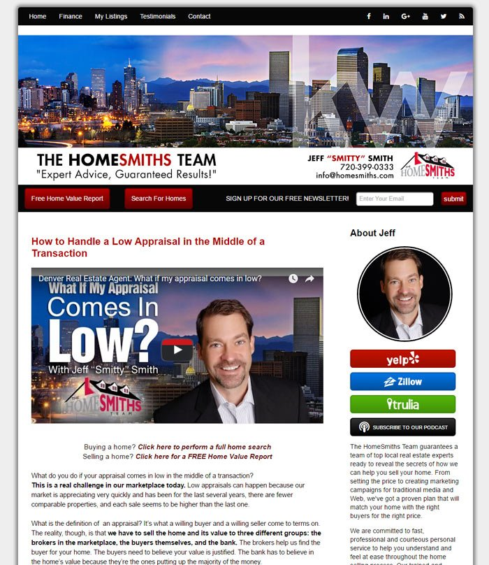 Example Real Estate Agent Video Blog