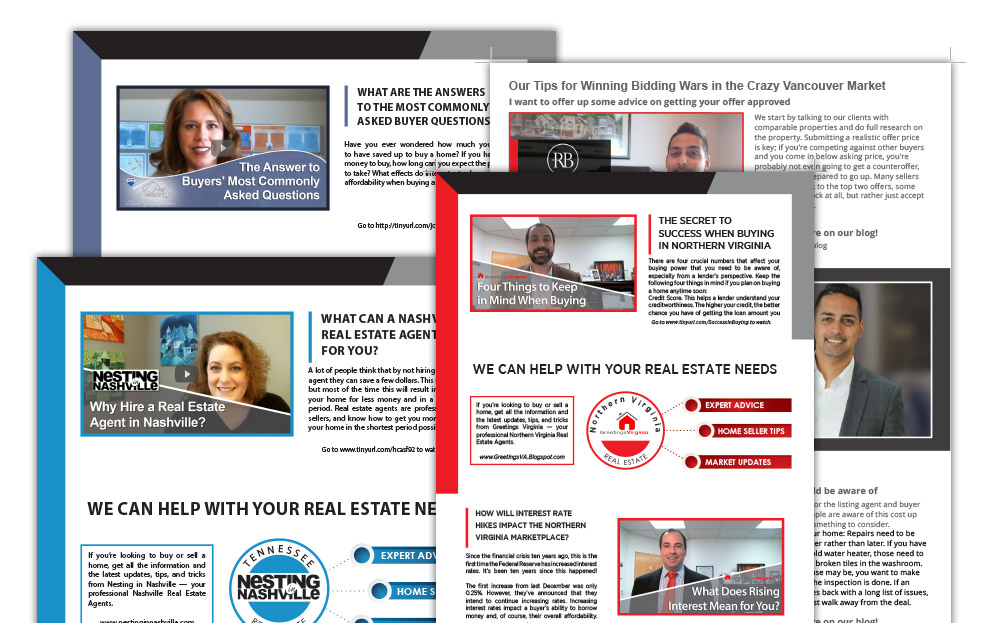 Monthly 8.5x11 Print Newsletter or Video Postcard