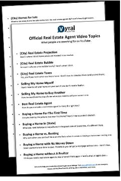 24 Real Estate Video Topics